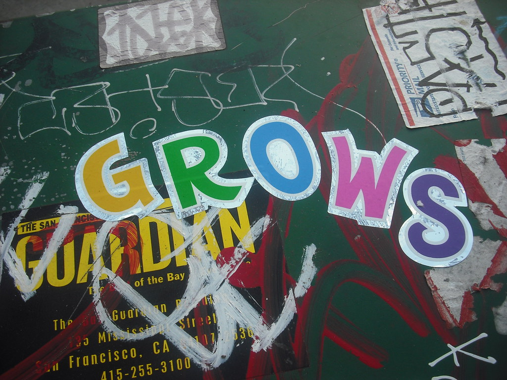 GROW stickers - Oakland, Ca