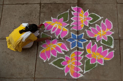 The color of Nostalgia...!!! (prabhakaran.s) Tags: india home entrance tradition chennai tamil southindia kolam rangoli canon400d prabhakaran tamilfestival harinee margazi tamilmonthtamilnadu