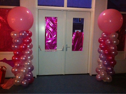Ballonpilaar Breed Rond Cosmicus College Rotterdam