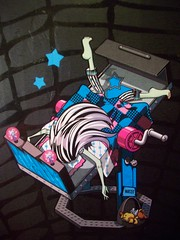 Frankie Stein Sleeping 2 (xClaribelx) Tags: toys mattel frankiestein monsterhigh mirrorbed watzit
