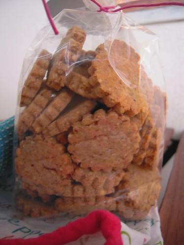 biscotti salati parmigiano e mandorle