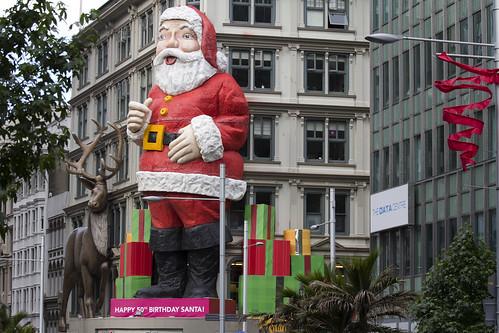 Santa Clause @ Queen Street, Auckland