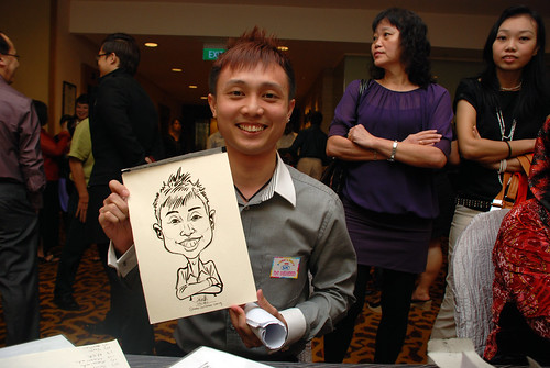 Caricature live sketching for Swiss Precision Dinner & Dance 2010 - 7
