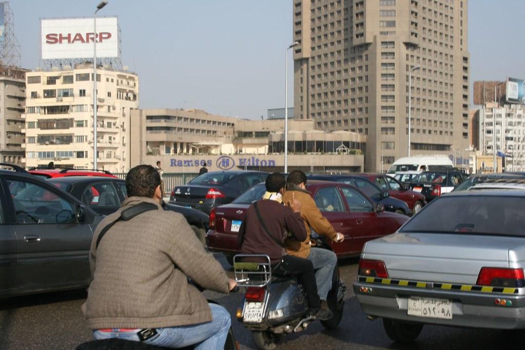vespas into Cairo