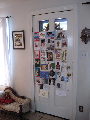 Christmas Cards on Door