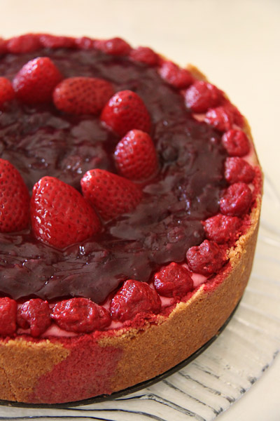 Mixed-berry uncheesecake