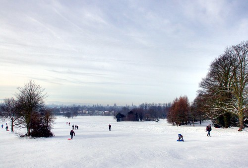 South Park Sledging on Boxing Day