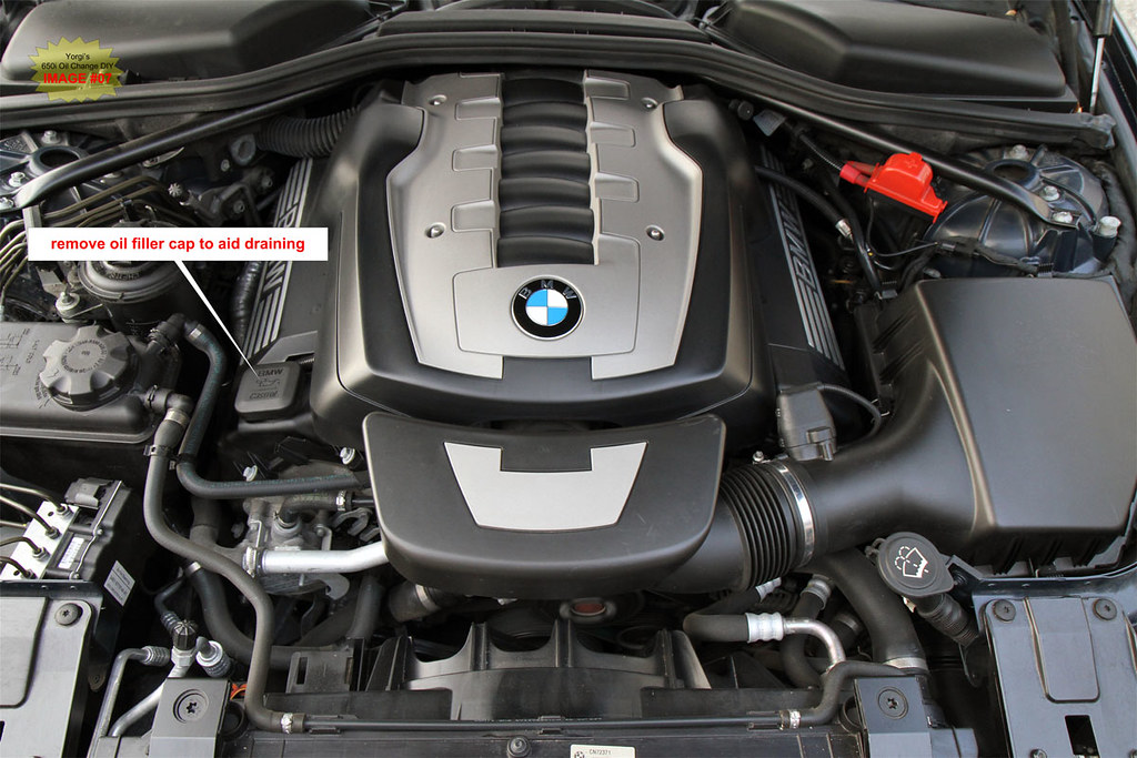 DIY BMW 650i  645Ci  E63  E64 Oil Change and Check Control