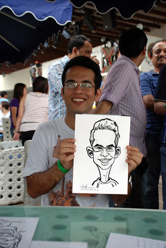 Caricature live sketching for VISA Beach Party 2010 -11