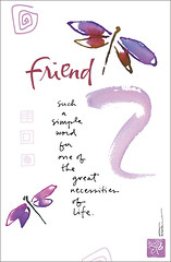 Dose of Inspiration: Friendship (KathyDavisStudios) Tags: life family inspiration art love beauty watercolor fun colorful peace friendship heart quote joy scatter blessing card journey american kathy greetings davis greeting whimsical quotation dose
