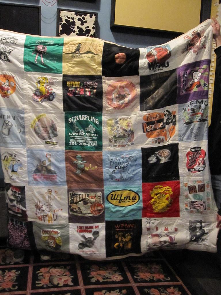 WFMU T-Shirt Quilt