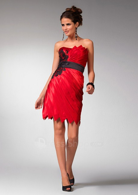 Charmeuse-Short-Red-Strapless-Cheap-A-Line-Wholesale-Prom-Dress-2011