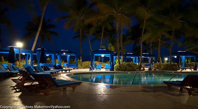 Night tales by the pool