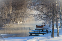 Happy New Year from Gnesta, Sweden (Mauritzson Foto) Tags: winter boat vinter sweden  bt gnesta sigtunan