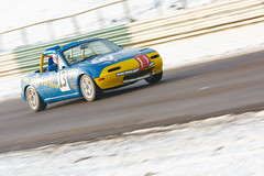 Scott Leach / Mazda MX5 / Mallory Park Plum Pudding Races 2010 (mattbeee) Tags: park snow cold sports race track day leicestershire 5 plum pudding racing m motor boxing icy races 13 saloon mallory motorsport kirkby
