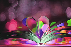 Book heart (grazanna) Tags: love colors book heart bokeh libro explore frontpage cuore canon50mm ksika serce