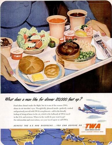 Airline Dinner Life Mar 19 1951