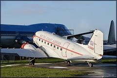 DC-3_G-DAKK (Dutch Simba) Tags: classic aircraft transport dc3 aeroplanes lelystad propellor aviodrome dc4 propliner propliners