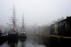 Charlestown, St Austell, Cornwall 29/12/2010 (Gary S. Crutchley) Tags: ocean uk travel sea england seascape west heritage history st fog port coast seaside nikon marine cornwall sailing ship harbour britain united country great foggy kingdom coastal charlestown nikkor seafront squire vr afs rigged austell kernow ifed 24120mm f3556 kartpostal d700