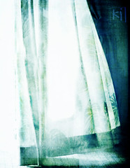 Curtain Light (inspired by...) Tags: blue light wind curtain blow breeze