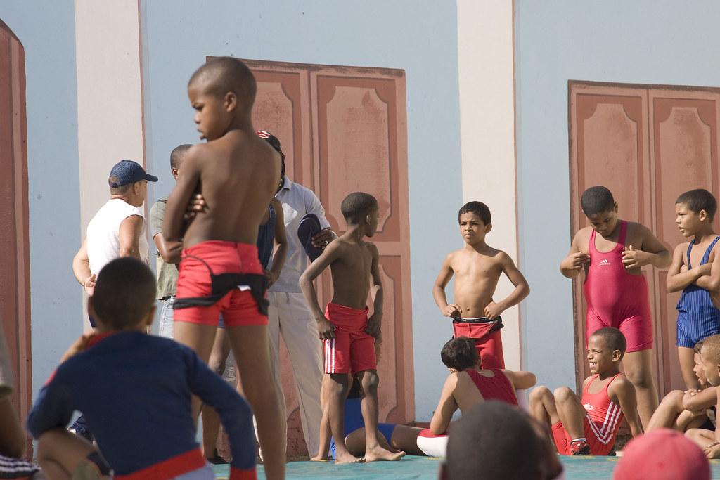 Boys Wrestling in Trinidad, Cuba