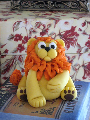 Lion Topper for King of the Jungle Baby Shower Cake