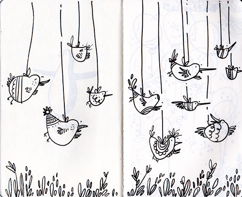 sketchbook project>> bird spread
