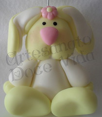 Coelhinha Fofa - Porta Recados (AliMueller) Tags: biscuit coelhinha portarecado