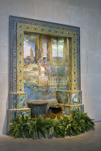 d5 MET Fountain base for mosaic wall mural tiffany