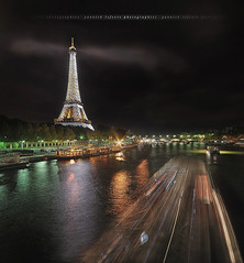 [Explore] Ghosts from a night shot, Eiffel Tower ~ Paris // France ~ (Yannick Lefevre) Tags: longexposure bridge people paris france photoshop boats lights nikon raw nef nightshot tripod eiffeltower wideangle ps toureiffel ghosts iledefrance hdr gettyimages manfrotto bateauxmouches d300 ndfilter sigma1020 poselongue photomatixpro passerelledebilly nikoncapturenx capturenx2 ©yannicklefevre||photography