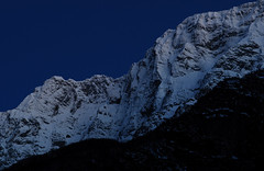 Loka stena (happy.apple) Tags: winter snow mountains landscape geotagged evening slovenia gore slovenija zima mrak sneg julianalps veer julijskealpe severnaprimorska