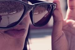 Just wanna have fun (David A Córdova M) Tags: portrait woman sun girl face sunglasses vintage photography glasses photo mujer foto shot sony cara picture manos lips labios fotografia alpha amateur lentes joven rertato davidcordova deividcordova