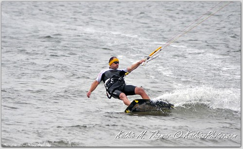 Wind surfer on a turn