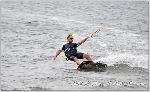 Wind surfer on a turn
