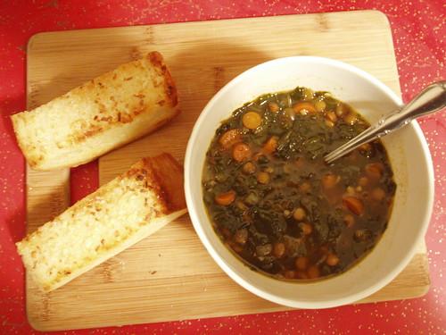 Spinach Lentil Crockpot Soup