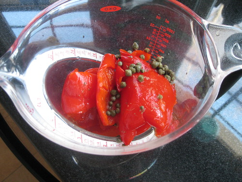 roasted pepper and capers