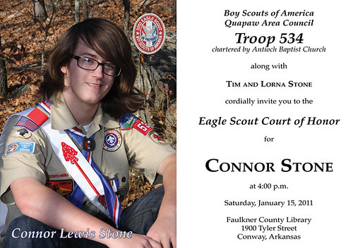 Eagle Scout Cout Of Honor Invitation