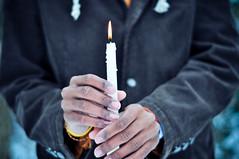 (tyreke.white) Tags: blue winter orange brown white snow green fire hands nikon candle buttons jacket bracelets d5000