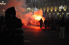 Is Turin burning ? (maurococi) Tags: night square fire downtown turin gettyimagesitalyq1