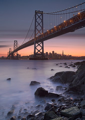 (exxonvaldez) Tags: sanfrancisco sunset night baybridge ybi sfist