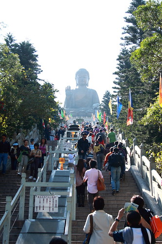 250 steps leading to the Giant Buddha of Hong Kong
