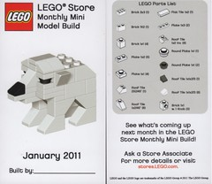 LEGO MMMB - January '11 (Polar Bear) (TooMuchDew) Tags: bear holiday lego january polarbear legostore polarbr january11 ourspolaire legoimaginationcenter mmmb legoclub toomuchdew monthlyminimodelbuild licmoa minimodellbauevent