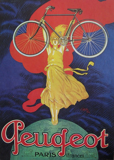 Vintage Bicycle Posters: Peugot