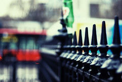 Charing Cross, London Fence (ewitsoe) Tags: street vacation cold bus london beer fence underground fun happy 50mm grey bottle garbage nikon iron europe december unitedkingdom tube fences transit messy barrier chilly fenced ik 2010 bottled hff newyearseveday transitstation d80 stellaheystella fencefriday streetcarnameddesirewasafantasticmovie
