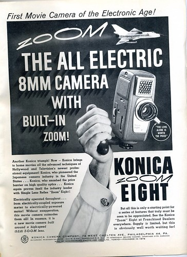 Konica Zoom Eight 8mm movie camera 1960 by Nesster