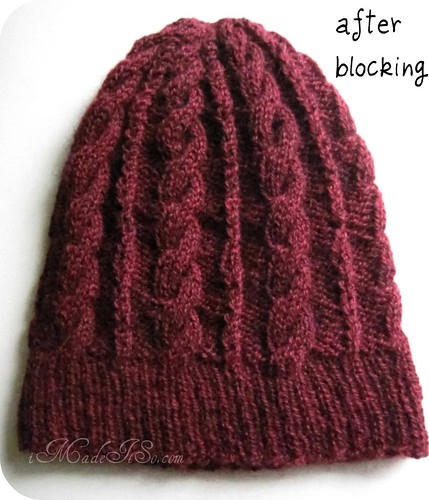 wool hat knit and blocked