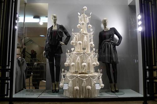 Vitrines Benetton - Paris, décembre 2010