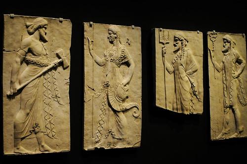 Pompeii Wall Relief of Gods