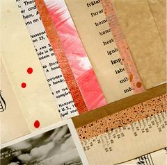 paperquilt #2 (katie licht) Tags: red art collage mixedmedia neutral vintagephoto vintagepaper