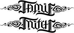 """""""Jamie"""" & """"Mitch"""" Ambigram v.2"""